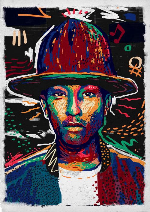 Retratos pop homem com chapéu