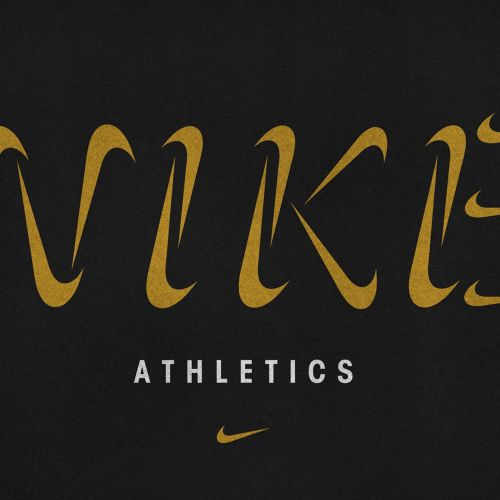 Lettering Nike Athletics