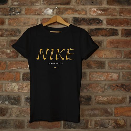 Graphic art on Black T-shirt Nike