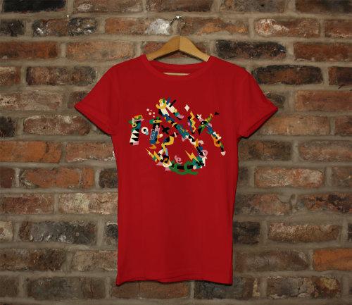 Arte gráfica na camiseta