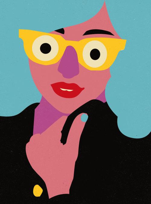 Ilustração vetorial de rosto de mulher