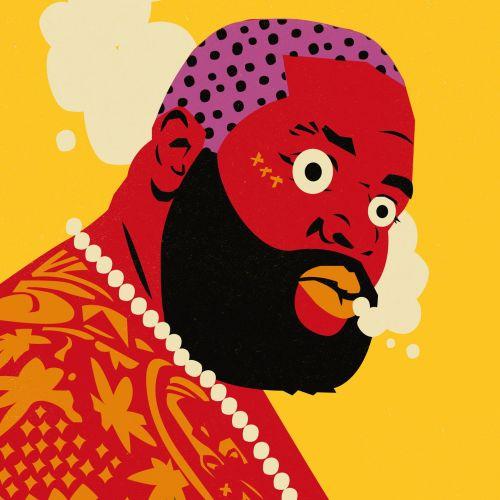 People fiery red face man