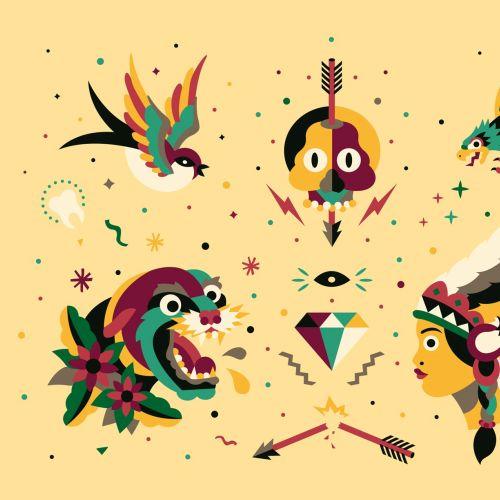 Graphic birds