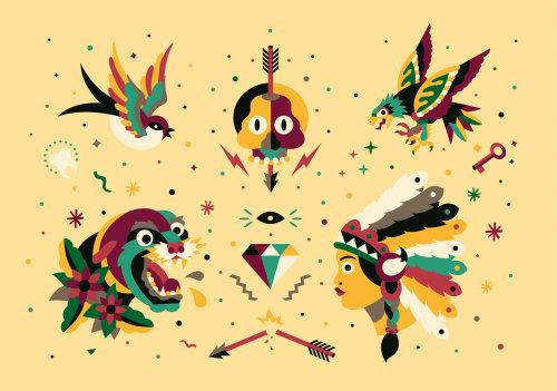Pássaros gráficos