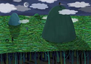 Sea illustration by Anne Wilson