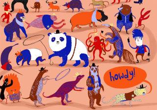 Animals following their leader