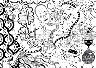 """Pattern illustration by Anne Wilson """