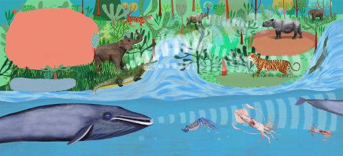 infrasound, whale, tiger, rhino, squid