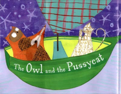 An illustration for The Owl and the Pussycat cover