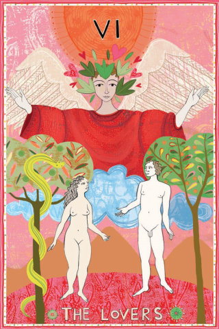 Naked couple illustration by Anne Wilson