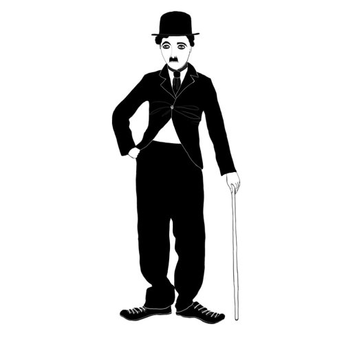 An illustration of Charlie Chaplin