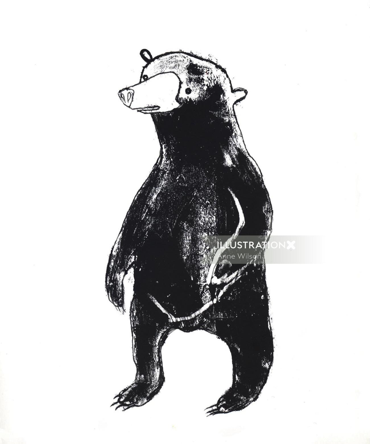 An illustration of Fuzzy Bear