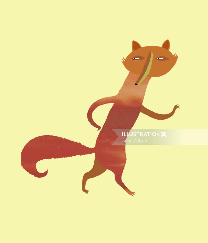 An illustration of fox