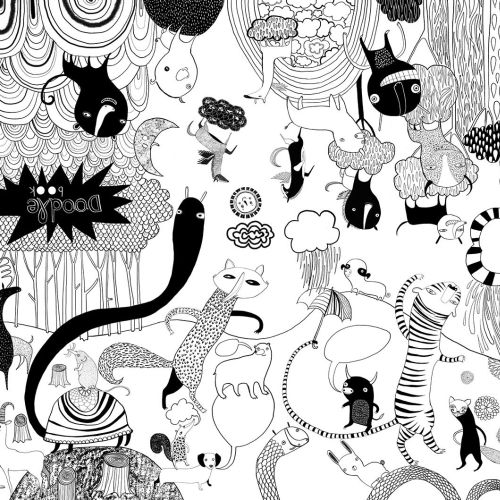 Doodle book illustration by Anne Wilson