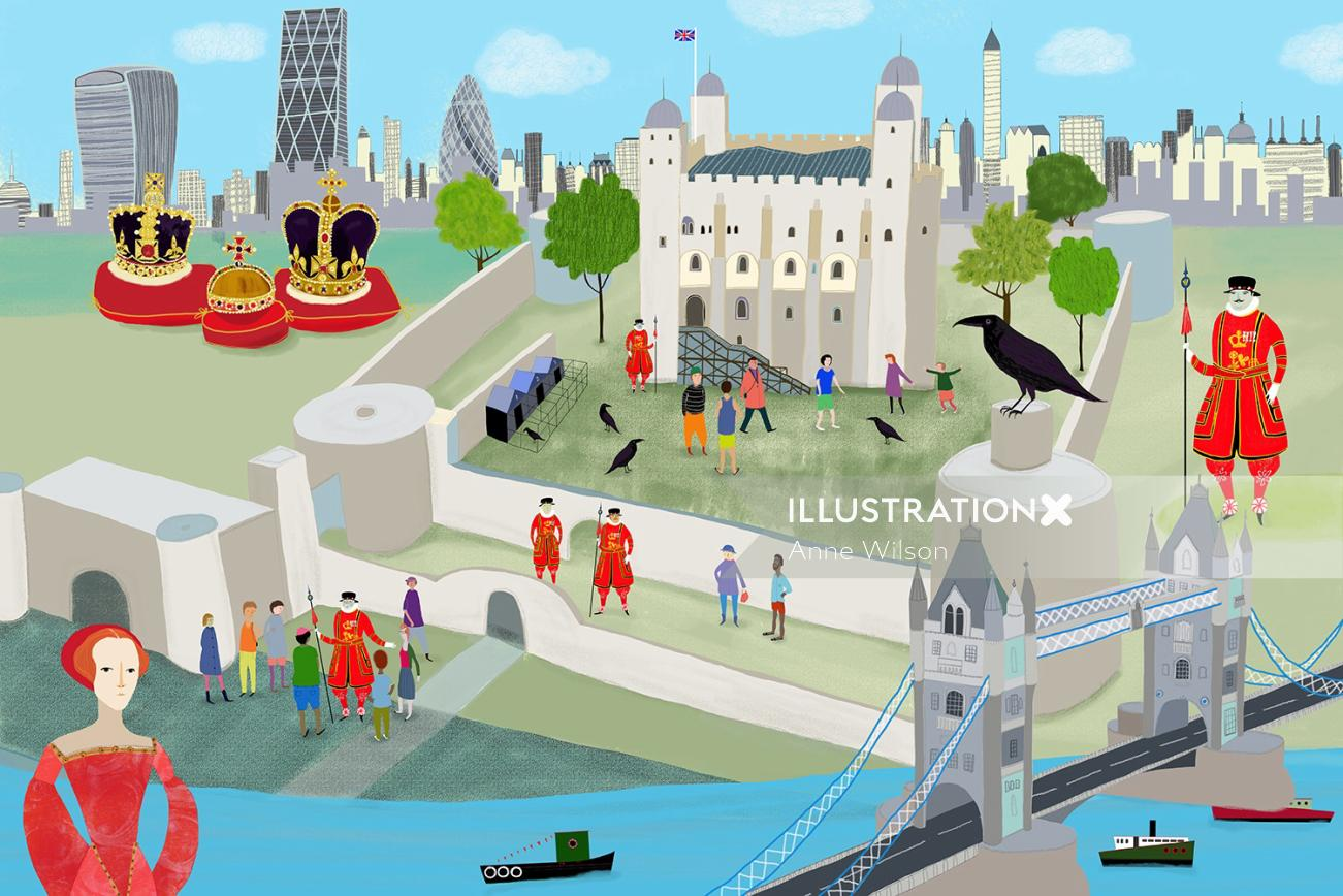 An illustration of tower of London