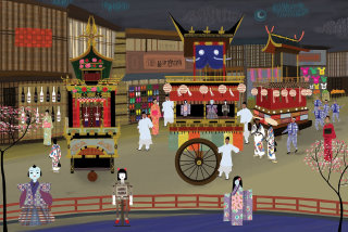 An illustration of Japan festival tradition