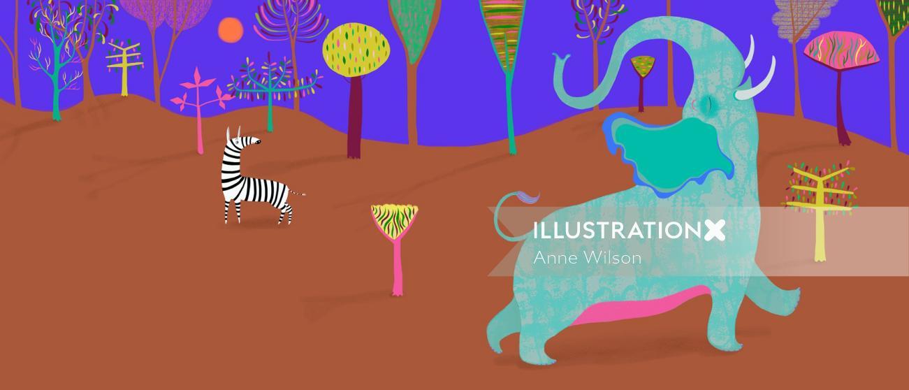 Elephant   Animal illustration collection