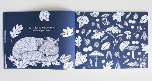 Fox sleeping design for Children's book page
