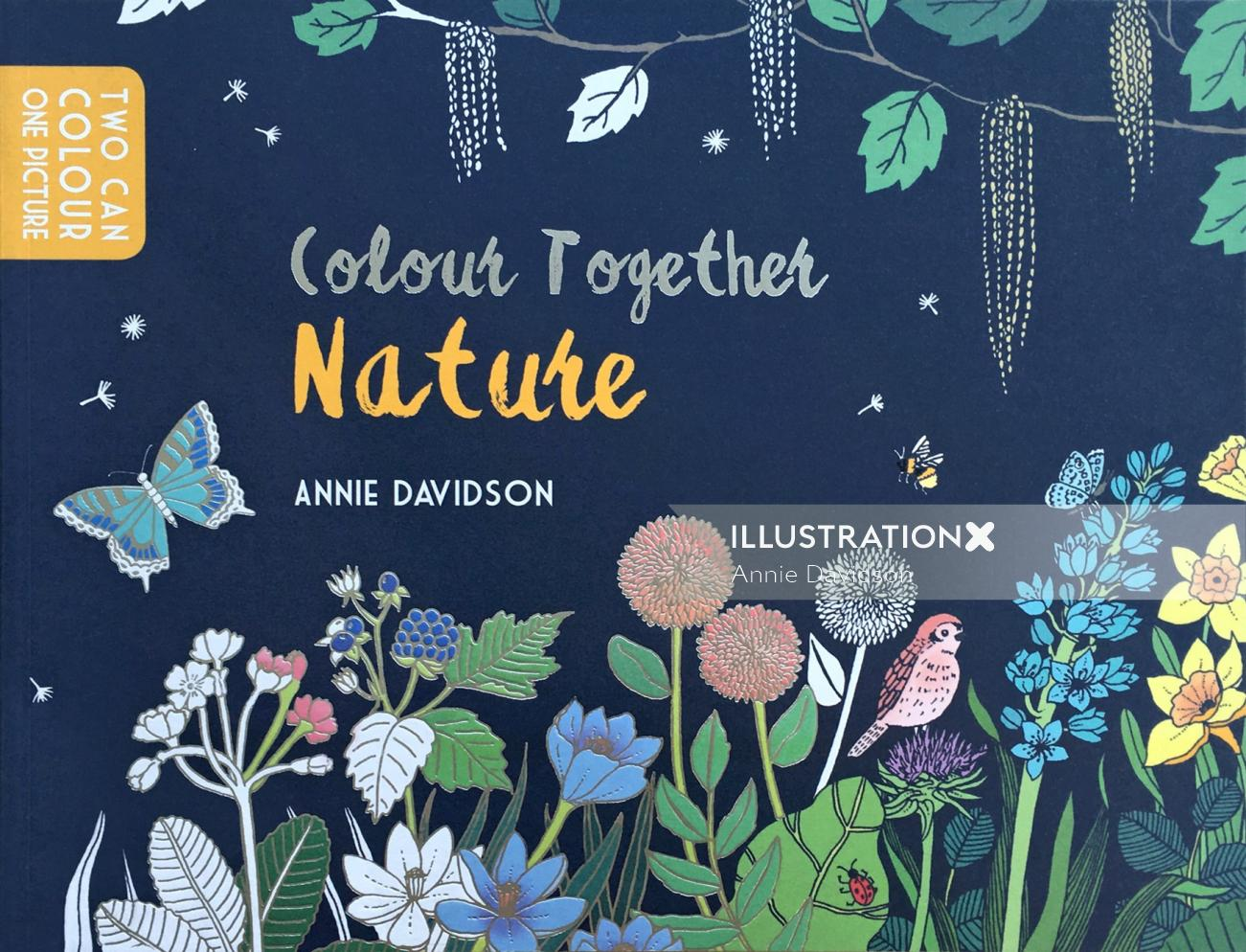 "Coloring Book of ""Colour Together : Nature"" for Andersen Press in U.K"