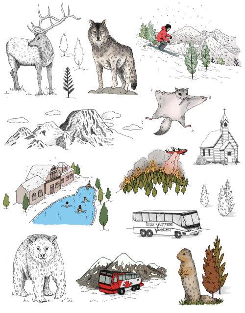 Lonely Planet 'Unfolding Journeys' Book Illustration
