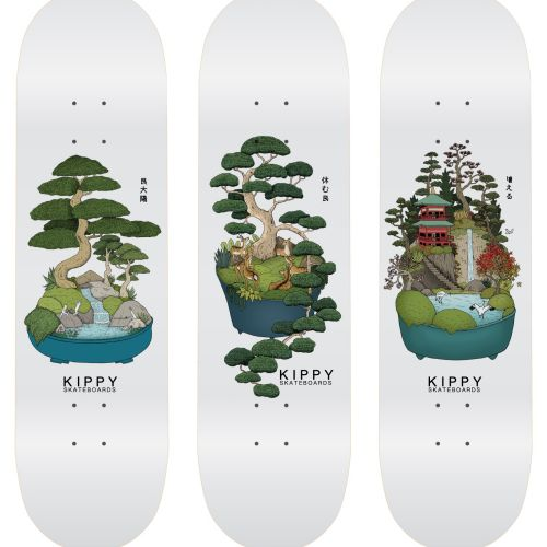Kippy skateboards graphic design