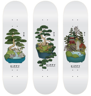 Kippy skateboards graphic design