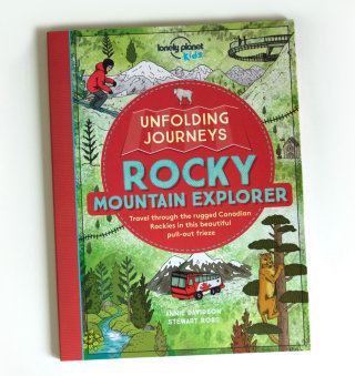 Book cover illustration of rocky mountain explorer