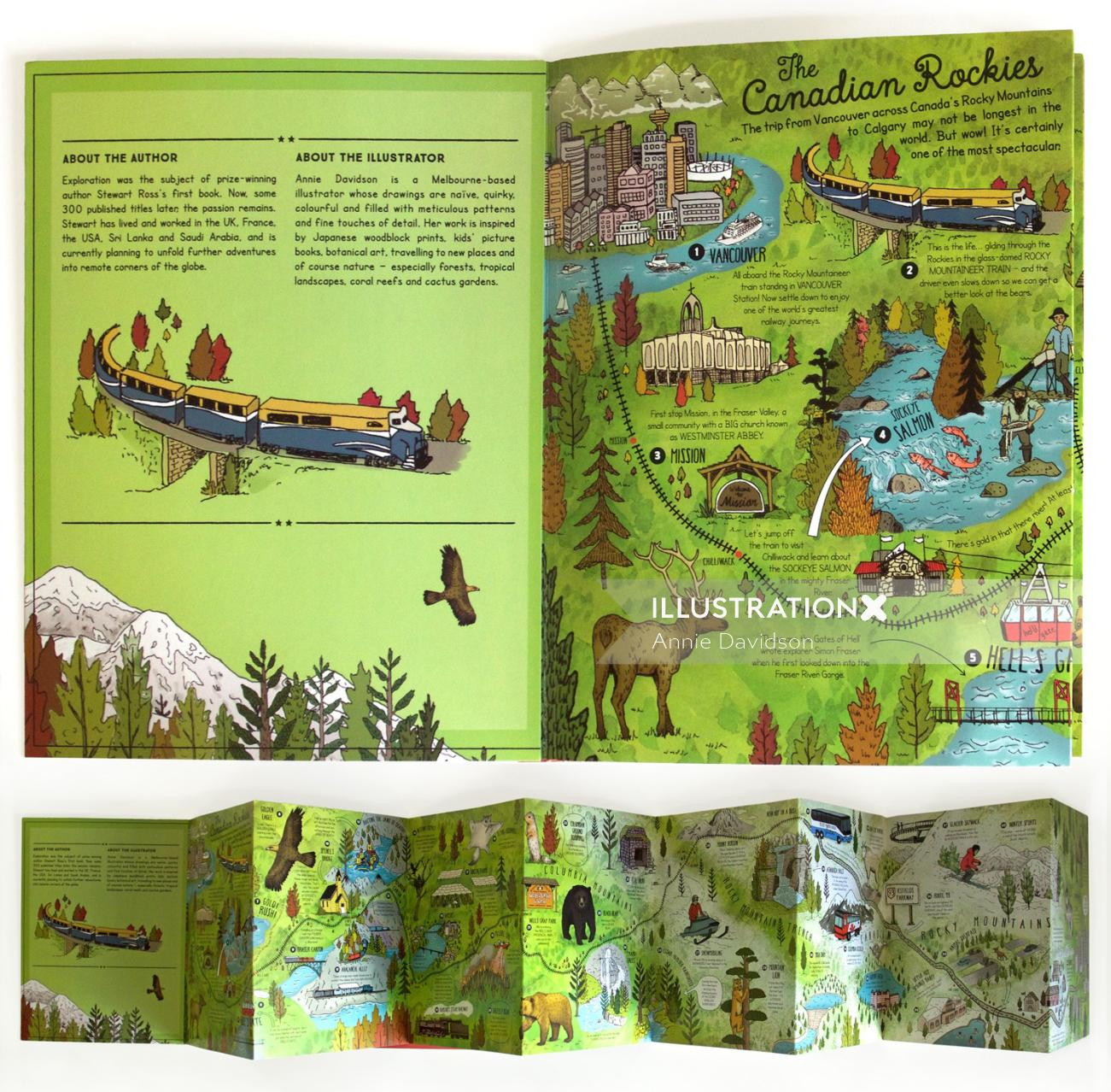 The canadian rockies editorial illustration