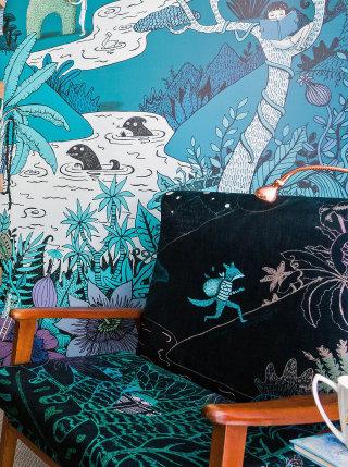 Wallpaper design by Annie Davidson