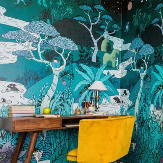 Mural art of wallpaper design by Annie Davidson
