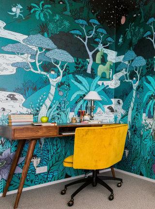 Mural art of wallpaper design by Annie Davidson