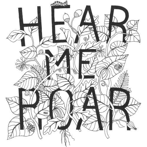 Hear me roar lettering art