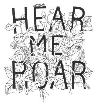 Hear me roar lettering art