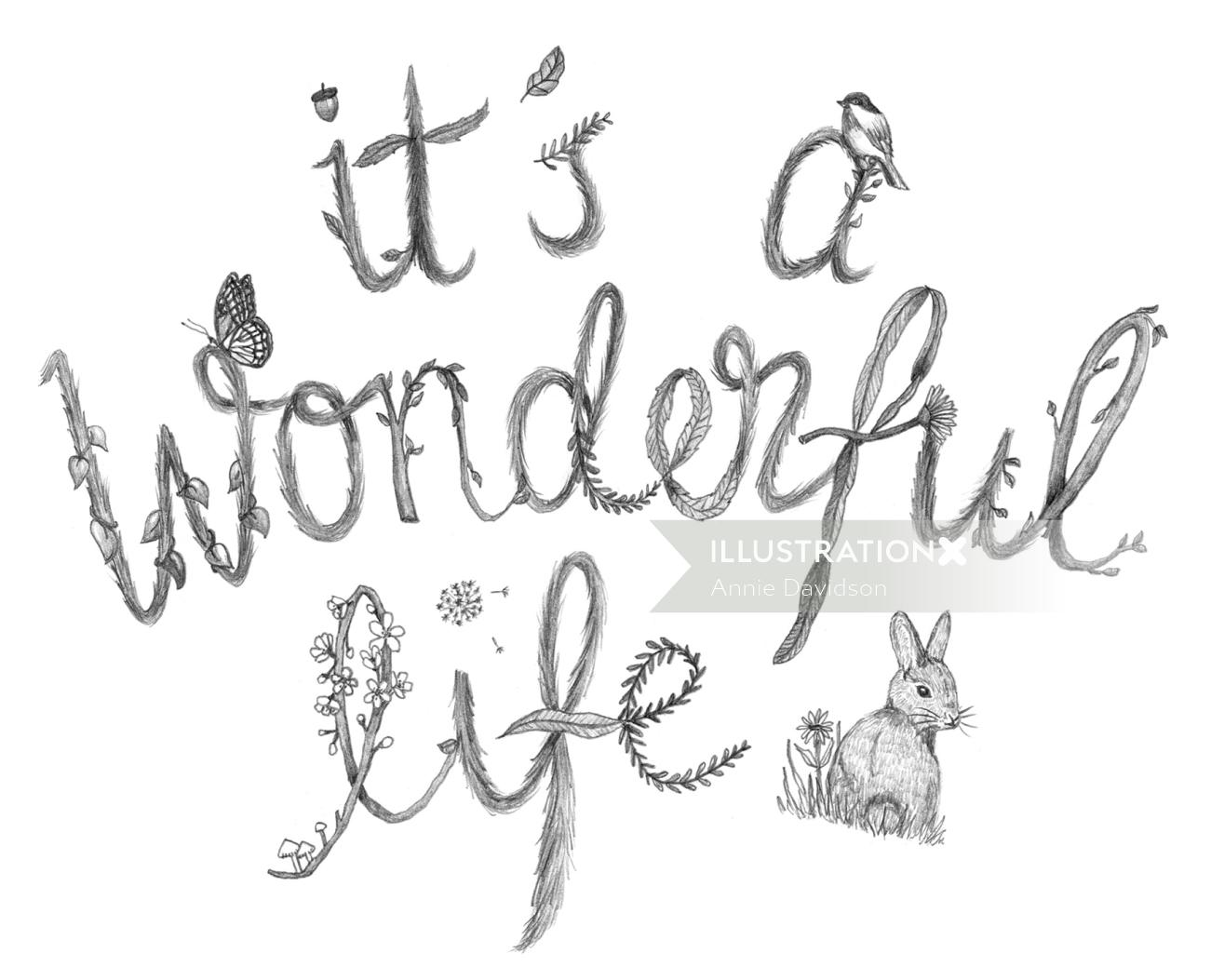 Typography of It's a wonderful life