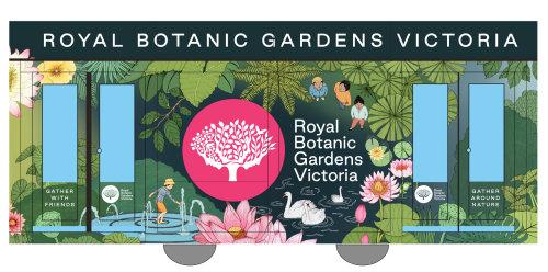 Graphic art of Royal botanic gardens Victoria