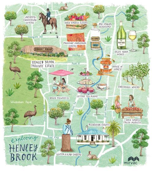 Maps of Henley Brook