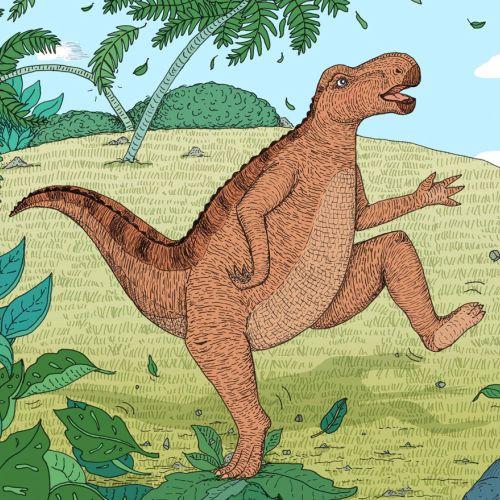 dinosaurs, illustration, medibank, stomping