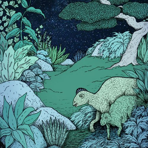 Night Foragers painting by Annie Davidson