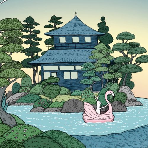Kyoto Tea House digital art