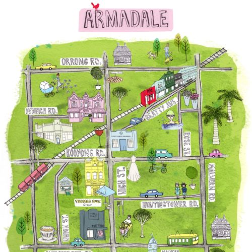 Armadale map illustration