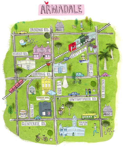 Armadale map illustration