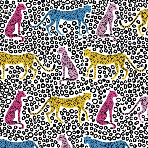 Cheetah animal pattern design