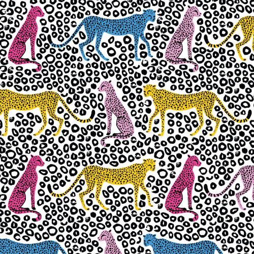 Cheetah animal pattern design