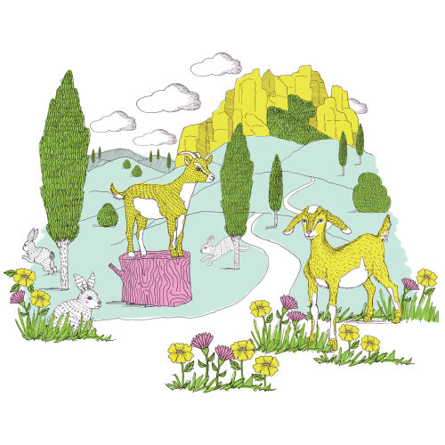 Mountain Goat Print graphical design