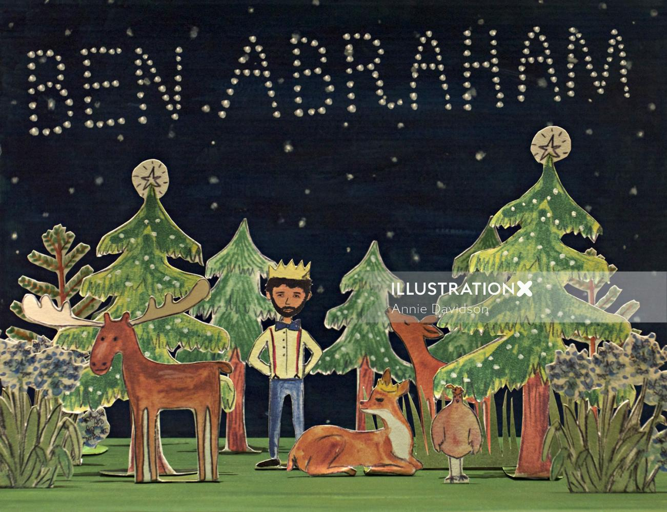 Gig poster design for Ben Abraham
