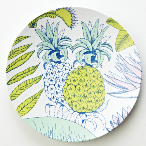 Graphic pineapple, tropical, linework