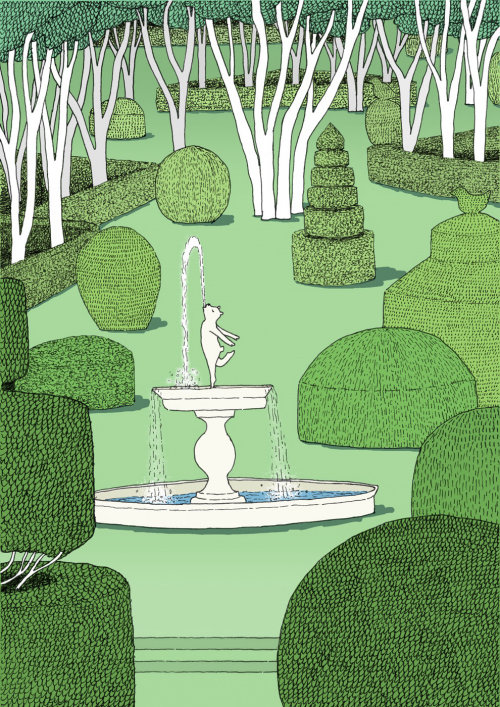 Topiary garden for Limited Edition Print