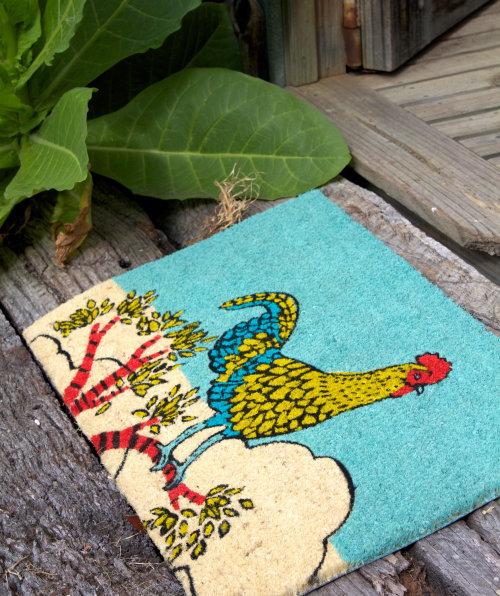 Door mat artwork by Annie Davidson
