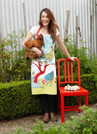 apron, chooks, farm, linework