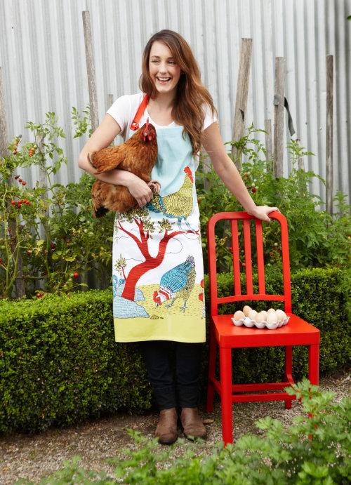 apron, chooks, farm, linework
